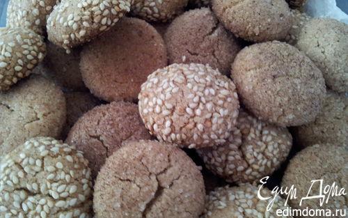Рецепт Печенье со вкусом халвы и корицы