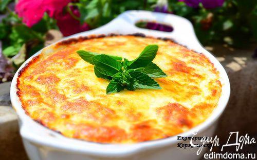 Рецепт Кабачковое суфле под сырной шапкой