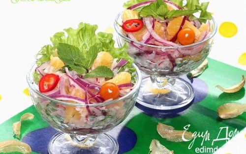 Рецепт Марокканский салат из овощей и апельсина