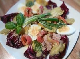 Французский яичный салат с тунцом