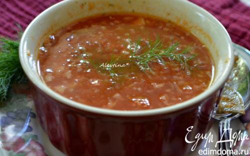 Рецепт Томатный суп с укропом