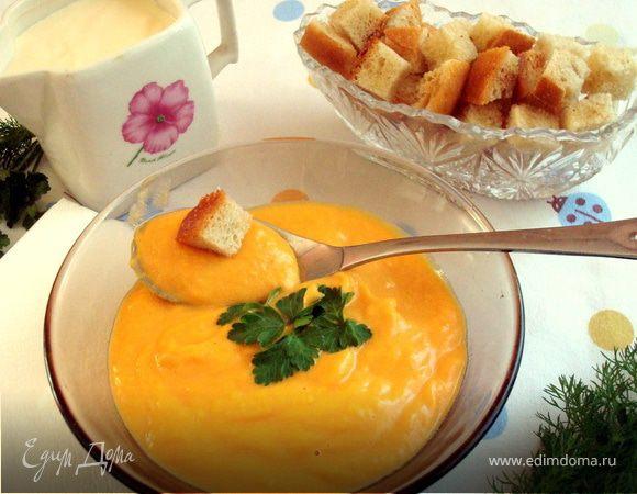 Овощной крем-суп с имбирем