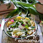 Салат из картофеля и черемши