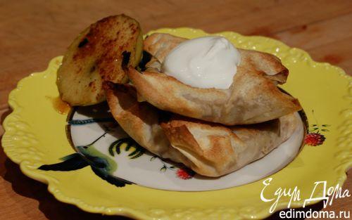 Рецепт Конвертики из фило с запеченными яблоками