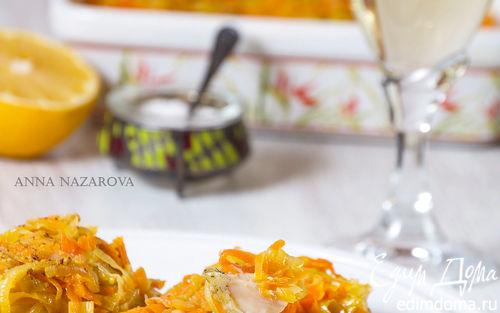 Рецепт Запеченная треска под горчичным соусом