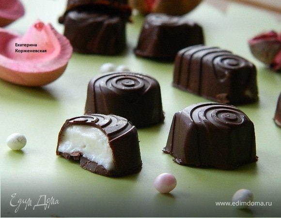 Шоколадные конфеты с творожным сыром
