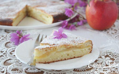 Рецепт Пирог с творогом и яблоками
