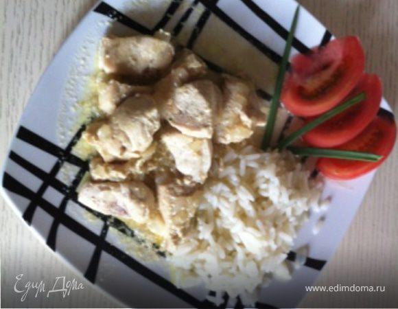 Курица со сливочным карри