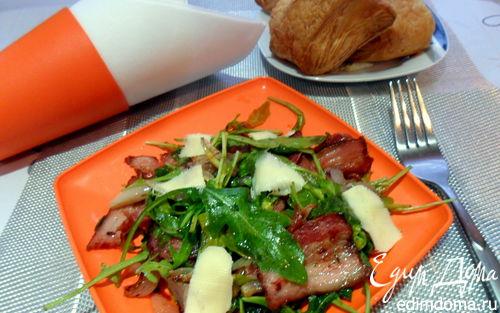 Рецепт Теплый салат с руколой