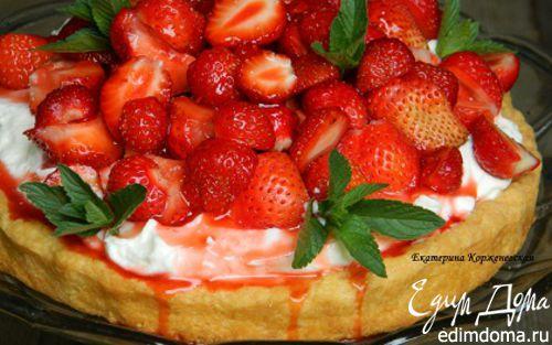Рецепт Летний торт с йогуртом и клубникой