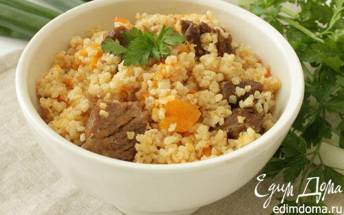 Рецепт Пшеничная каша с мясом и тыквой