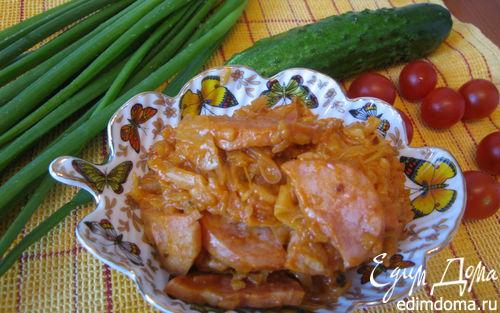 Рецепт Лаханоризо с колбасками