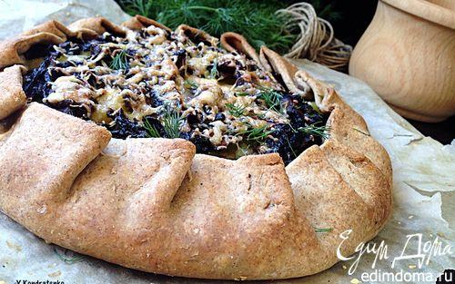 Рецепт Ржаная галета с картофелем и грибами