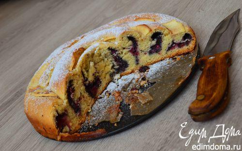Рецепт Сдобный пирог с вишнями и маком