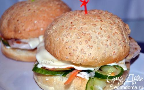 Рецепт Бургер с индейкой и сочными овощами