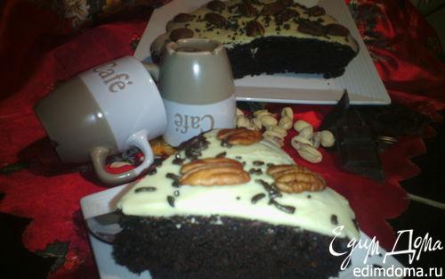 Рецепт Шоколадный кекс с орехами и пряностями