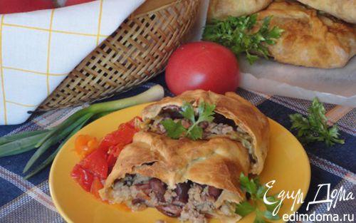 Рецепт Пироги с мясом, капустой и фасолью