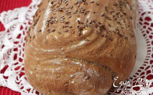 Рецепт Пшенично-ржаной хлеб с льняными семечками