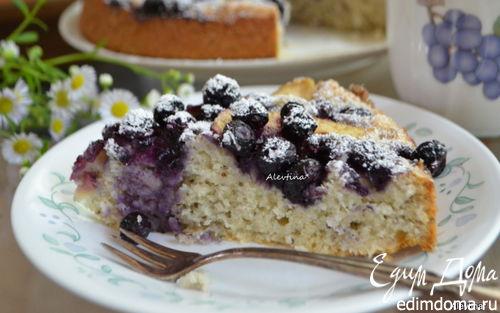 Рецепт Чайный кекс с семенами чиа, голубикой и яблоками