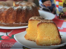 Бразильский кукурузный пирог с сыром (Bolo de Fubá Cremoso)