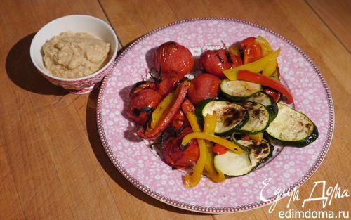 Рецепт Запеченные овощи и хумус с вялеными помидорами