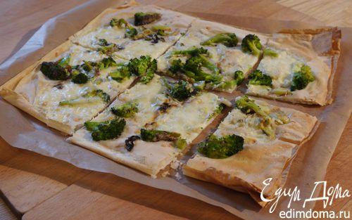 Рецепт Тарт с брокколи, луком-пореем и сыром