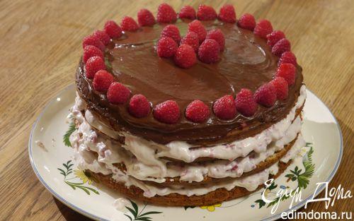 Рецепт Слоеный маковый пирог с малиной