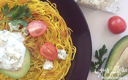 Рецепт Паста с авокадо и соусом из сыра дор блю