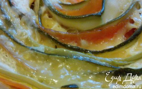 Рецепт Киш с цукини, морковью, кабачком и сыром в мультиварке