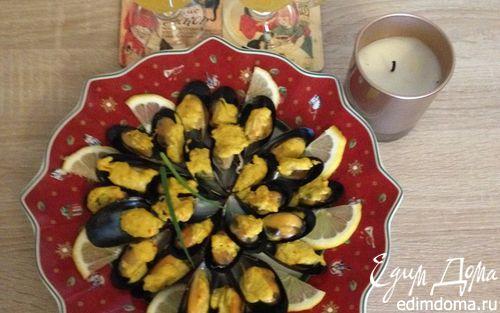 Рецепт Чилийские мидии в шафрановом соусе и мандариновое желе со специями
