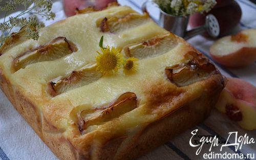 Рецепт Творожно-персиковый пирог