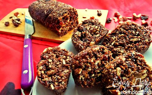 Рецепт Халва шоколадная с отрубями и семечками