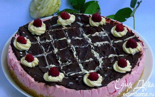 Рецепт Малиновый чизкейк с двумя видами шоколада