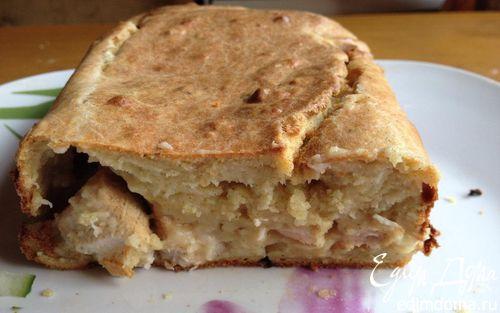 Рецепт Сырный кекс с курицей (Любителям бутербродов посвящается)