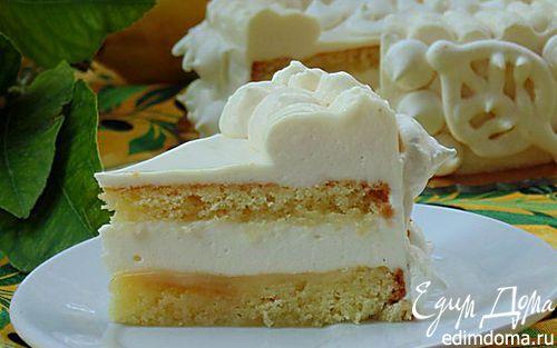 """Рецепт Итальянский торт """"Лимонный восторг"""" (Delizia al limone)"""