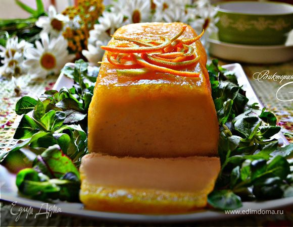 Рыбный паштет в апельсиновом желе