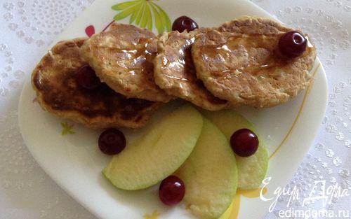Рецепт Яблочные оладьи с овсянкой