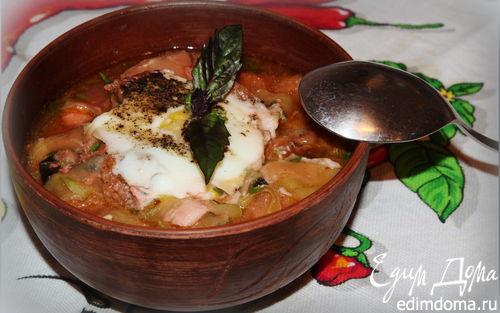 Рецепт Чесночный суп с цукини и сухариками