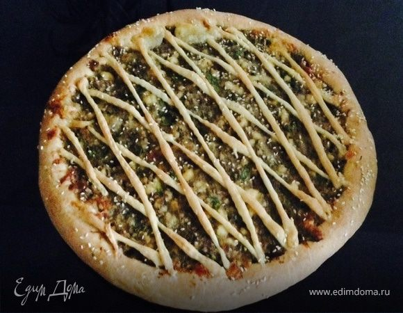 Пирог с баклажанами и адыгейским сыром