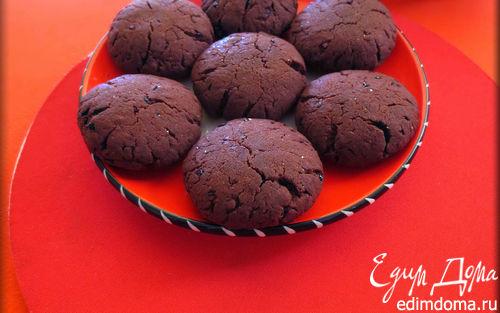 Рецепт Постное шоколадно-черничное (малиновое) печенье