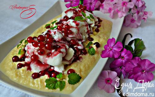 Рецепт Десерт «Плавающие острова» (ILES FLOTTANTES) c ягодным соусом