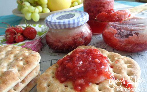 Рецепт Клубнично-ванильный конфитюр с кремом из маршмеллоу