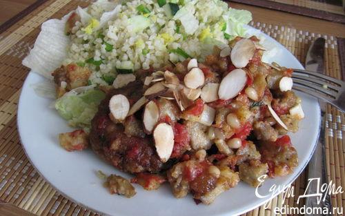 Рецепт Биточки в томатно-баклажанном соусе