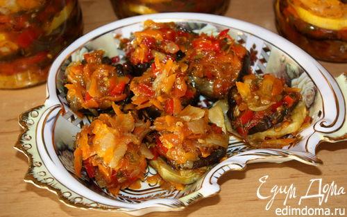 Рецепт Консервированный салат из баклажанов с кабачками