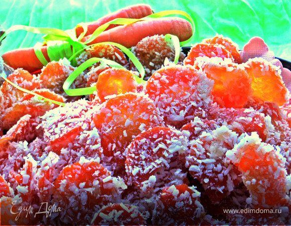 Морковные конфеты в кокосе