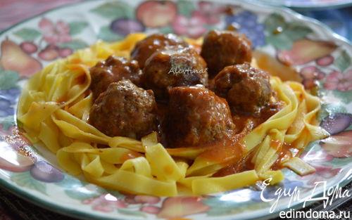 Рецепт Фрикадельки с медовым-острым соусом