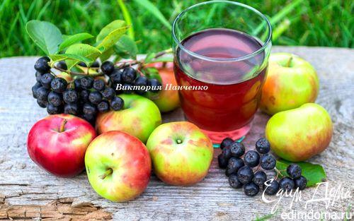 Рецепт Компот из яблок и черноплодной рябины