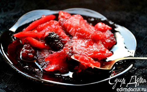 Рецепт Варенье яблочно-ежевичное с лимонными корочками