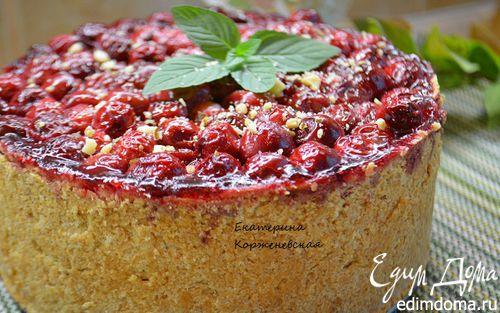 Рецепт Немецкий творожный пирог с вишней