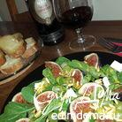 Салат с инжиром и кедровыми орешками